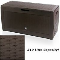 Large Outdoor Storage Box Plastic Waterproof Garden Shed Patio Furniture Cushion