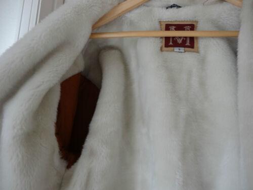 con interno scamosciata chiaro polsini e Sherpa Pelle S marrone Mauries qYgvnwwR1