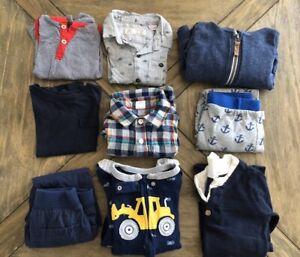 9-Items-Boy-12-18-M-Blue-Lot-Zara-Gap-Seven-Burts-bees-Carter-s-Mix-N-Match