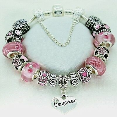 Pink Bracelet PERSONALISED Birthday Gifts For Daughter Mum Sister Nan Aunt Niece