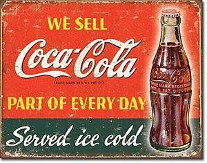 Coca-Cola-Coke-Teil-von-Every-Day-Metall-Schild-415mm-x-320mm-De