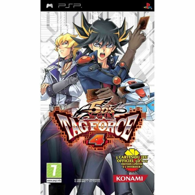 YU-GI-OH! 5Ds TAG FORCE 4 PSP GAME NEW PAL UK + CARDS
