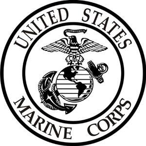 USMC Marine Corp Logo * Window Wall STICKER * Vinyl Car Decal * ANY COLORS eBay - Wall Art Stickers Ebay