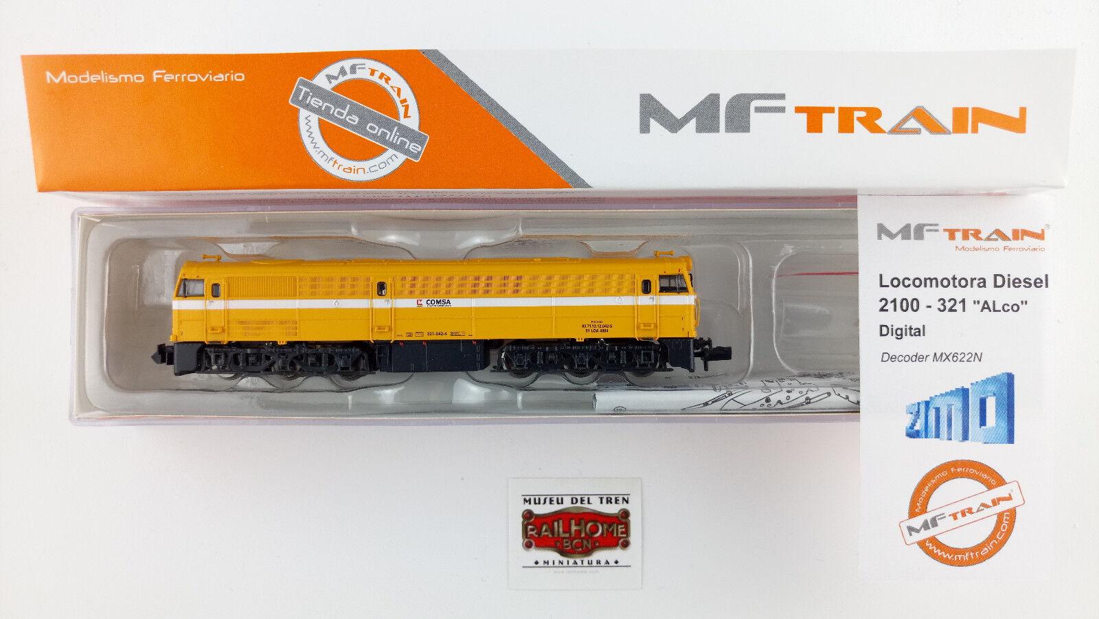 MFTRAIN N13222 - DIESEL-LOK 321-042-4  COMSA  - DCC ZIMO - NEW TOP