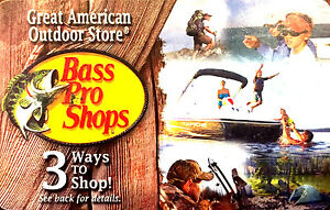 Bass Pro Shops Gift Card -Good in Store or Online--0-- balance ...