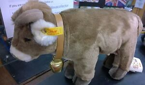 Steiff-Vintage-soft-toy-Brown-Resi-Cow-Standing-072801-Loose-Free-Postage-UK