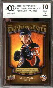 2009-10-upper-deck-biography-of-a-season-bos4-JOHN-TAVARES-rookie-BGS-BCCG-10