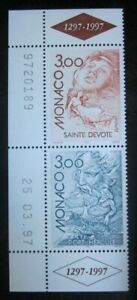 Timbres-Monaco-YT-2104-2105-neufs-Paire-Europa-1997