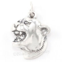 Cougar Head Panther Mascot University Pendant Wild Cat Charm 925 Sterling Silver