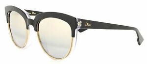 810a036dc6ab9 New Dior Sight 1 S K4X 96 Black Crystal Black Cat-Eye Sunglasses ...