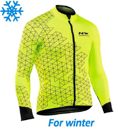 Winter Cycling Jersey Thermal Long Bib Bike Wool Shirt Primal Jacket Warm NW Set