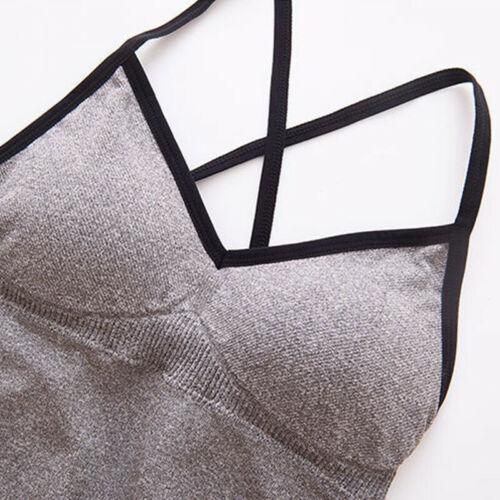 Workout Crop Top Vest Fitness  Yoga  Women  Underwear  Stretch  Sports  Bra