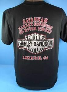 Harley davidson savannah georgia dealership t shirt m ebay for M m motors savannah ga