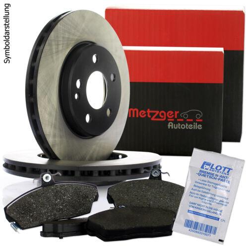 Beläge hinten für Opel Astra G CC Kombi 2 METZGER Bremsscheiben Ø264mm Voll