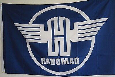 Traktor Trecker Schlepper Fahne Flagge 90x150 cm HANOMAG .........F0350