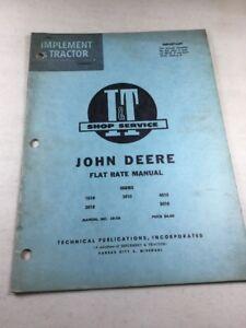 I&T John Deere Repair Time Manual For 1010, 2010, 3010 ...