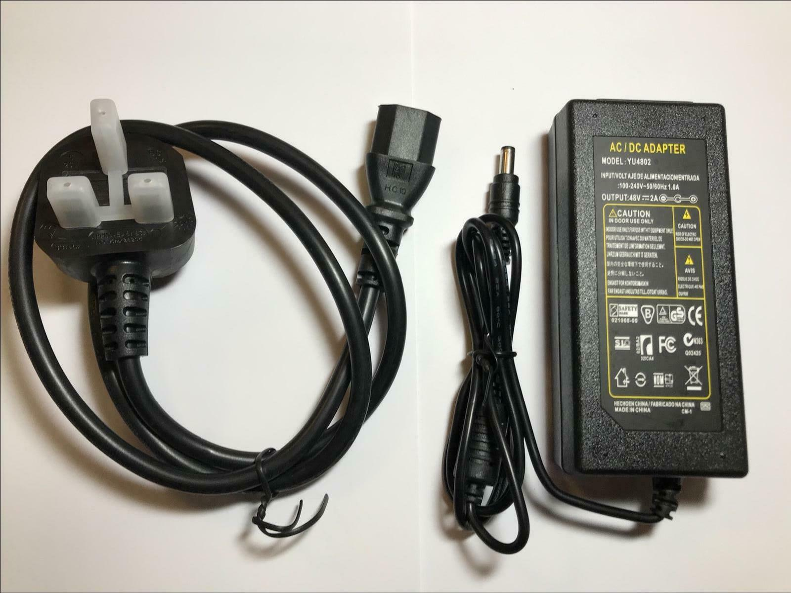 48V 2A 2000mA AC-DC Switching Adapter Desktop Power Supply YITENG-4802 2.5/2.1