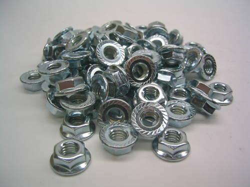 100 100 1//4-28x1-1//4 Socket head screws 1//4-28 Serrated Flange Lock nuts /&