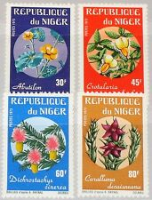 NIGER 1973 365-68 266-69 Rare african Flowers geschützte Blumen Flora Plants MNH