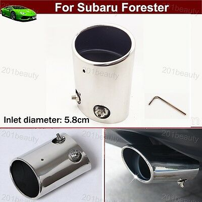 Exhaust Muffler Tail Pipe Tip Tailpipe Emblem For For Subaru Forester 2009-2019