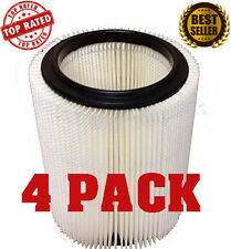 Craftsman/Ridgid Wet/Dry Vacuum Replacement Vac Cartridge Filter FOUR PACK NEW
