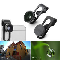Universal Fish Eye Wide Angle Macro Lens Camera lens Kit F Iphone Samsung Galaxy
