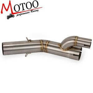 Motorcycle-Exhaust-Middle-Pipe-Link-Pipe-Slip-On-For-BMW-S1000RR-2017-2018