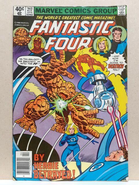 Fantastic Four 217 VG (4.0) - Dazzler Appearance - Marvel Comics 1980