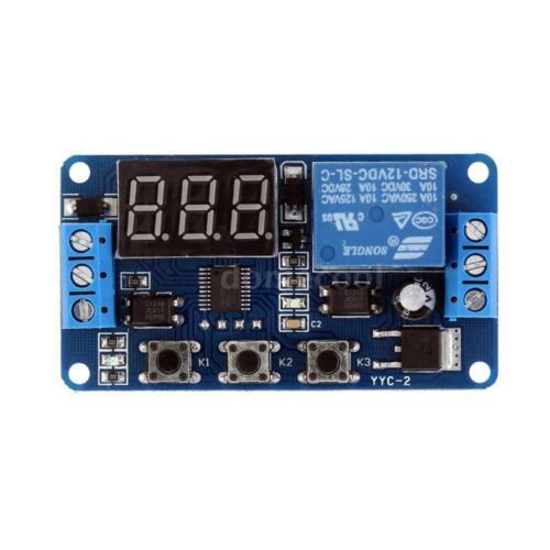 Practical 12V Automation Digital Delay Timer Control Switch Relay Module N4F4