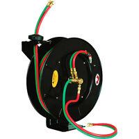 Retractable Torch Welding Hose Reel 50ft 1/4 Auto Rewind Oxygen Acetylene Wall on sale