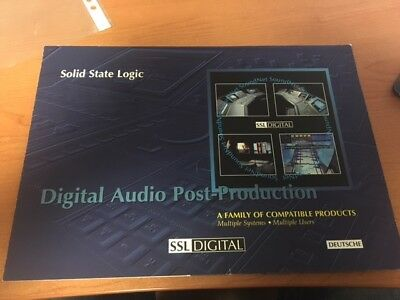 Cameras & Photo Ssl Digital Audio Post Production Prospect Solid State Logic Ssl Digital