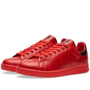 1bd820a04d46 Adidas X Raf Simons Stan Smith Red Black BA7377 MSRP  400 8-12 Brand ...