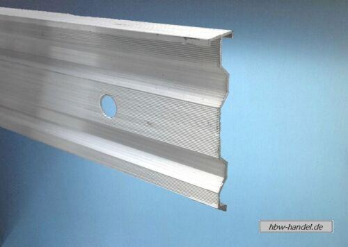 1m /& 2m Kappleiste Aluminium stranggepresst Wandanschlußprofil Abschlußschiene