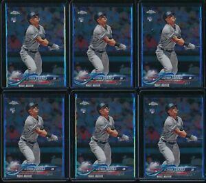 2018-Topps-Chrome-Update-Set-Gleyber-Torres-6-Card-RC-Lot-HMT80-Rookie-Yankees