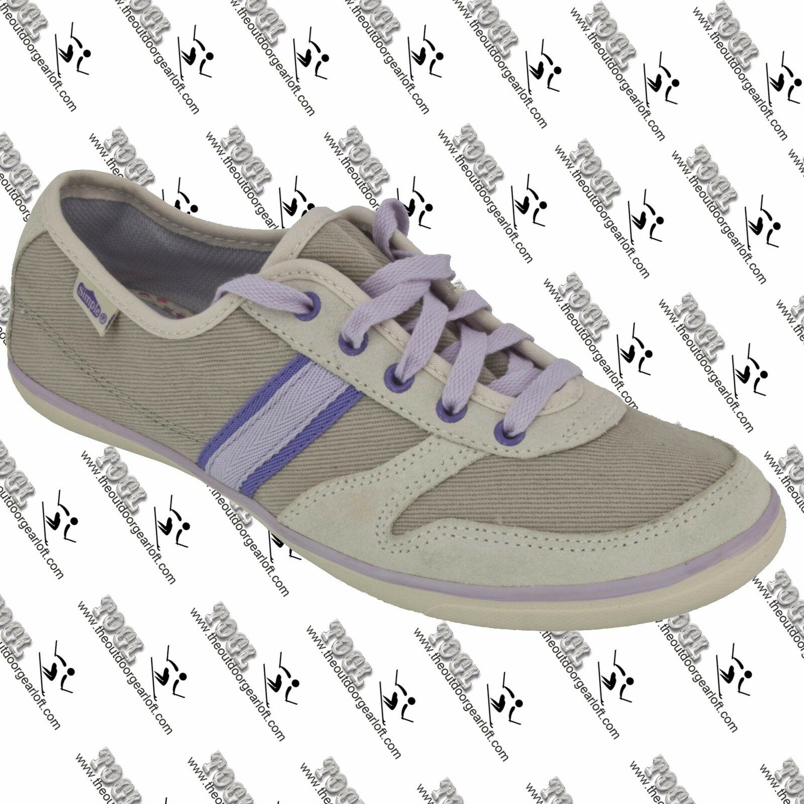SIMPLE TB6 T 9080 WOMENS ALOHA CANVAS LEATHER S US LACE UP SNEAKER SHOES US S 7 9b49c3