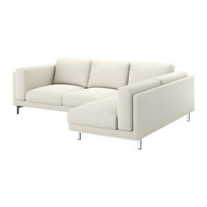Amazing Details About Ikea Nockeby 3 Seat Sofa Chaise Right Cover Set In Tallmyra L Beige Squirreltailoven Fun Painted Chair Ideas Images Squirreltailovenorg