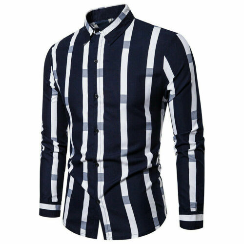 Luxury Formal Casual Top Floral Dress Shirts Mens Slim Fit New Shirt Blouse