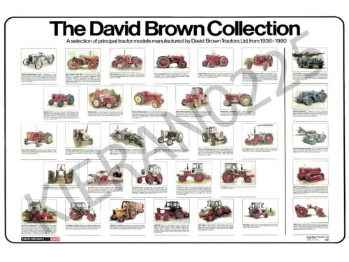 (A3) David Brown Case Tractor Poster Brochure 'The David Brown Collection'