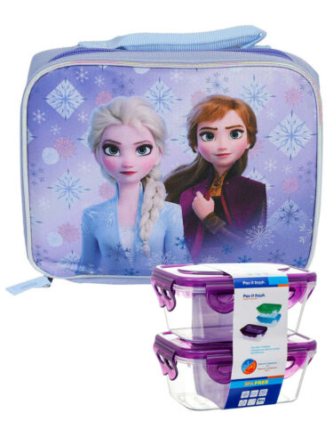 Frozen II Insulated Lunch Bag Elsa Anna /& Snack Container Set