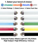 Packs of T5 Fluorescent Tubes High Output, High Efficiency, Coloured, UV, GroLux