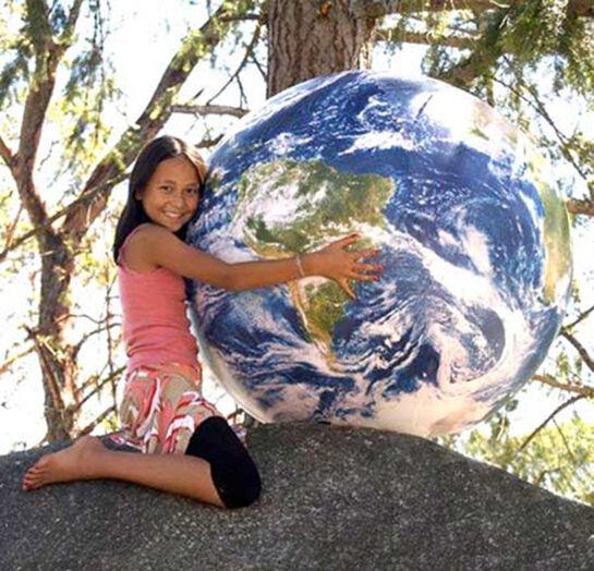 Ballon 100cm Impression numérique Mappemonde Terre vu de l'espace