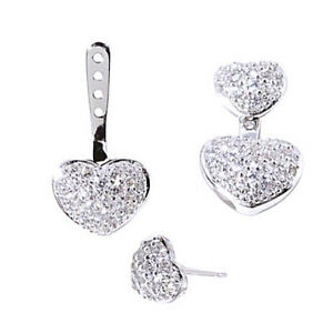 Jewelry & Watches 1Ct D/VVS1 Round Cut 14K White Gold Finish Drop Earrings