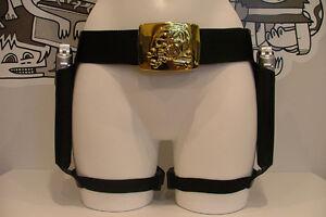 Lara-Croft-Fancy-Dress-Quality-Leg-Holsters-Skull-Buckle-Gloves-Dog-Tags