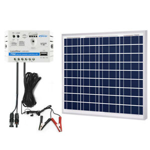 5A Charge Controller With Alligator Clips ACOPOWER 25W 12V Solar Charger Kit