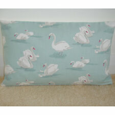 """20""""x12"""" Oblong Bolster Lumbar Cushion Cover Swans on Duck Egg Swan Ugly Duckling"""