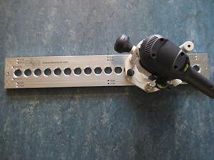 Lochreihe Bohrschablone Bohrlehre Dubel Schablone 32mm Raster