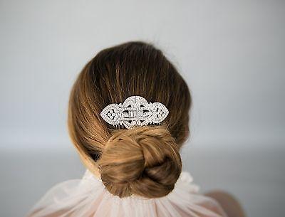 Vintage Inspired Wedding Bridal Crystal Rhinestone Hair Comb Art Deco