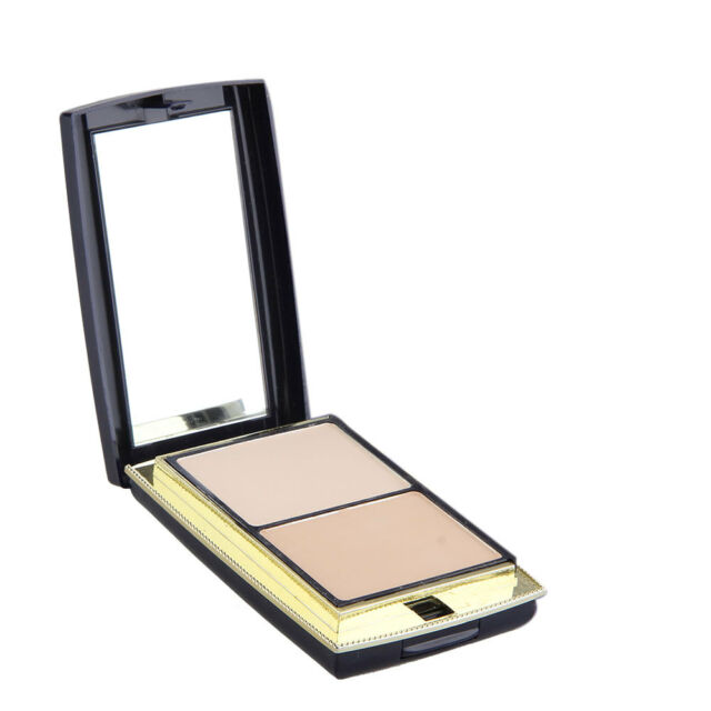 Pressed Powder Foundation Cosmetic Compact Highlight Contour Shade 3 Color