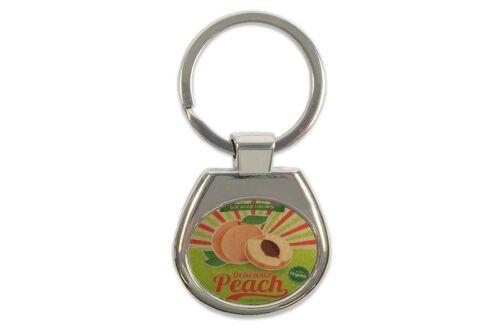 Schlüsselanhänger Nostalgie Fun köstlicher Pfirsich bedruckt