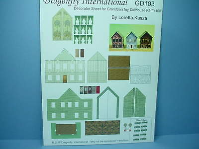 Dollhouse Miniature Grandpa/'s Toy Dollhouse Decoratring Sheet #GD103 Dragonfly